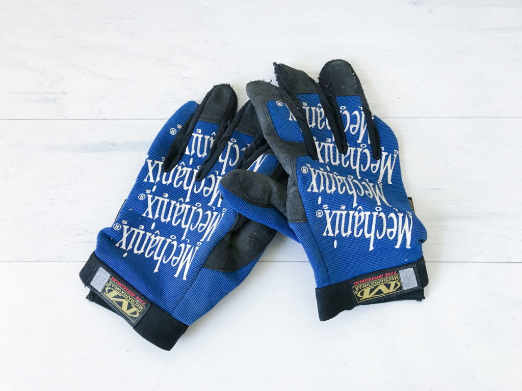 work gloves to protect your hands and prevent blisters