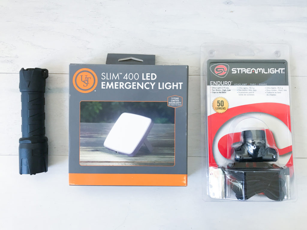 LED flashlight light headlamp torch. Always good to have in your vehicle.