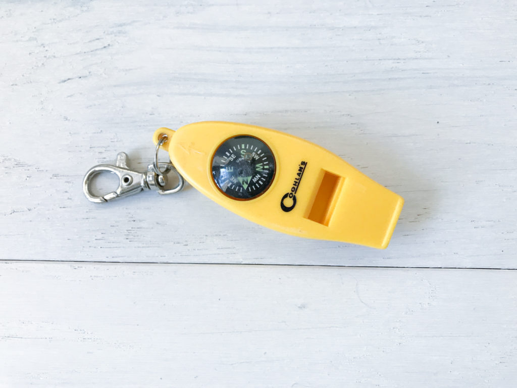 rescue whistle to get found