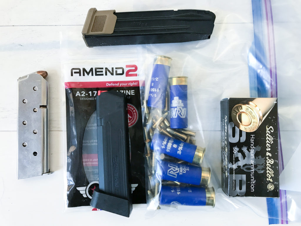 spare ammunition and magazines for survival and defense