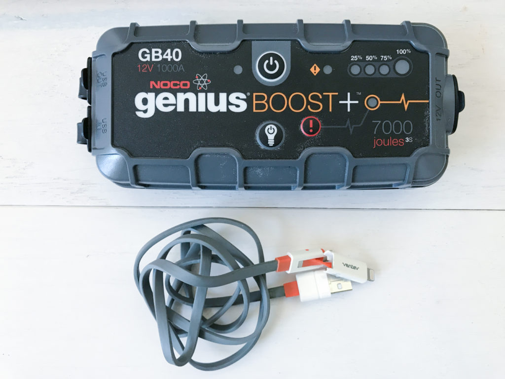 portable jump start charger vehicle mobile phone and battery. SHould be in your vehicle bug-out kit