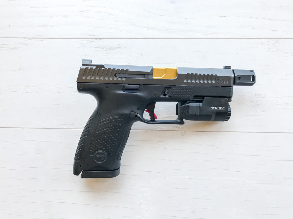 completed cz p10 c threaded barrel and comp install